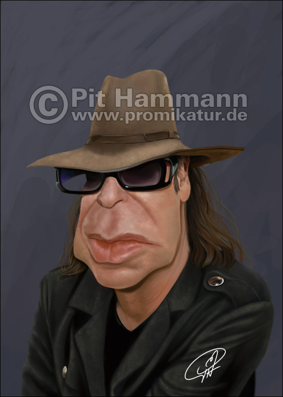 Udo Lindenberg Karikatur | digitale Illustration