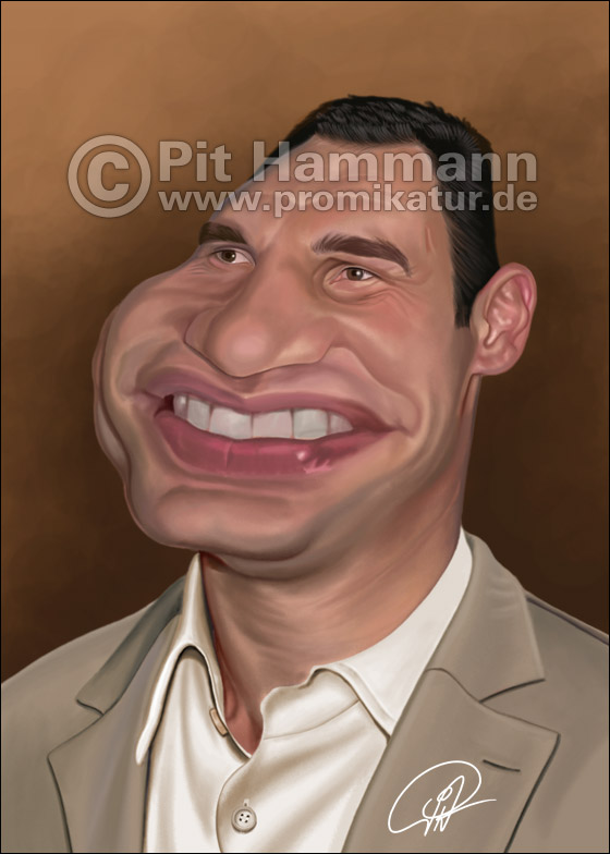 Vitali Klitschko Karikatur | digitale Illustration