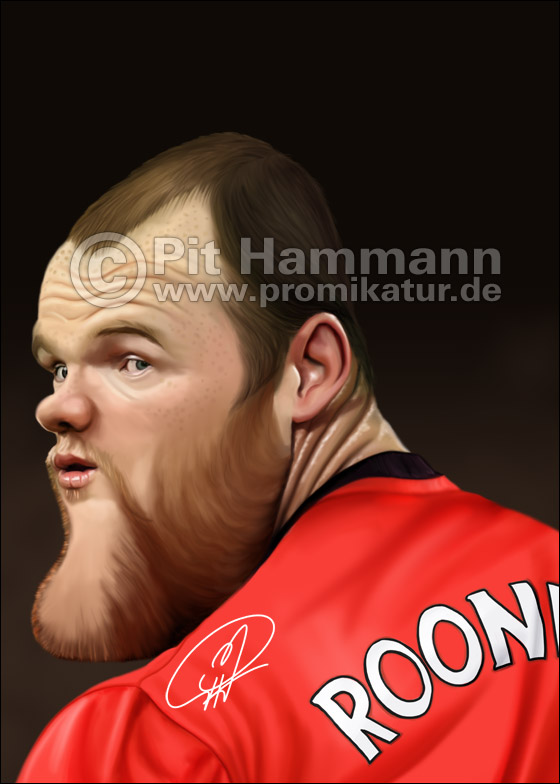 Wayne Rooney Karikatur | digitale Illustration