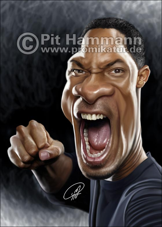 Karikatur Will Smith | digitale Illustration