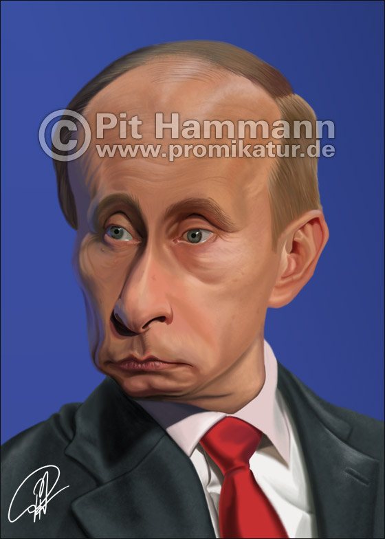 Wladimir Putin Karikatur | digitale Illustration